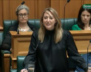Invercargill National MP Sarah Dowie addresses the House.PHOTO: PARLIAMENT TV
