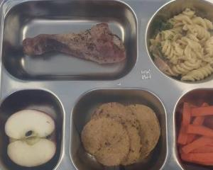 The free school lunch served up today. Photo: RNZ