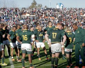 The Springboks have slumped to their lowest point since the world rankings began. Photo: Getty...