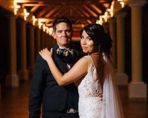 Tane Roderick and Sandy Bustos tied the knot in a dream wedding which included a Catholic...