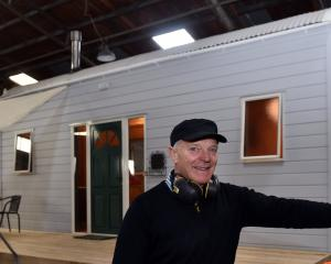 Andrew McColm has built a tiny home in his Milton workshop. Photos: Peter McIntosh