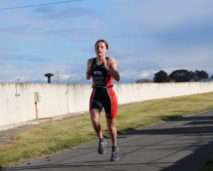 Cashmere High School triathlete Morgan Flanagan earned a national title in Wanaka. Photo: Supplied