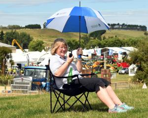 Sharon Paterson directs proceedings at the 2018 Southern Field Days event at Waimumu. Photo:...