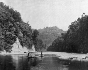 Mangara Reach, on the Wanganui River, North Island. — Otago Witness, 24.2.1920.