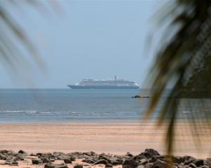 MS Zaandam is in waters off the Panamanian coast. Photo: Reuters
