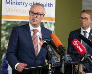 Health Minister David Clark (left) and the Director-General of Health Dr Ashley Bloomfield have...