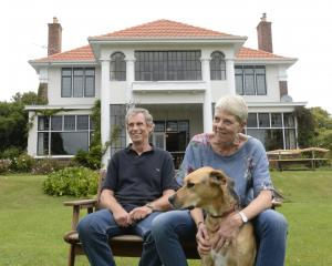 David Gwynne-Jones and Ulla Reymann, pictured with dog Monty, wanted to keep their home's...