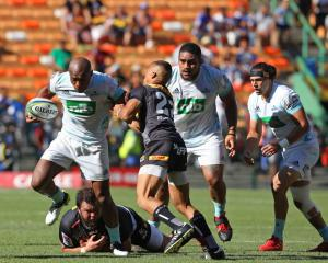 Mark Telea of Blues during the Super Rugby match between DHL Stormers and Blues in Cape Town....