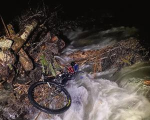 This bicycle was found in a  flooded West Coast river early yesterday. Photo: NZ Police