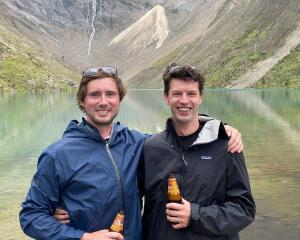Conor Hayes (left) and Caleb Nicol have been travelling around South America over the past three...