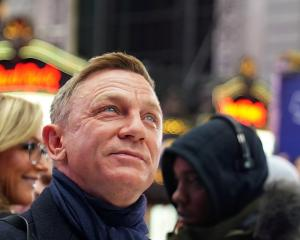 Actor Daniel Craig poses during a promotional appearance in Times Square for the new James Bond...