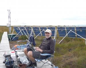 Assoc Prof David Campbell, of the University of Waikato, in the field researching peatlands....