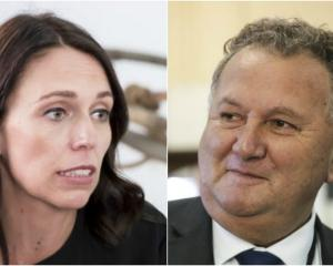 Prime Minister Jacinda Ardern and Regional Economic Development Minister Shane Jones. Photo: RNZ
