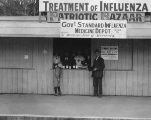 "An influenza medicine depot in Christchurch for ""poor"" people during the 1918 pandemic. Photo:..."