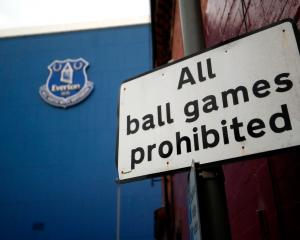 A view from outside Goodison Park, home of Everton Football Club, following Friday's announcement...