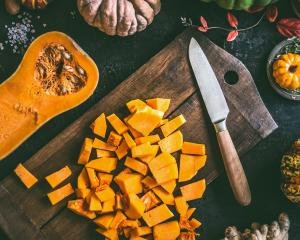 Autumn vegetables, such as pumpkin and butternut, taste better if left for a couple of weeks...
