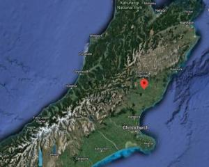 A strong earthquake struck about 4.30am near northern Canterbury. Image: Google