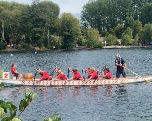 Oxford Area School has enjoyed dragon boat success. Photos: Oxford Area School