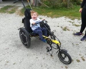 Luca Moynihan (4) has been asking for a bike like this for more than a year. PHOTO: SUPPLIED