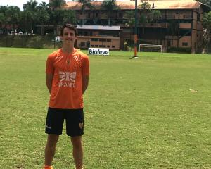 Ben Lund at the Brasilis FC training camp this week.PHOTO: SUPPLIED
