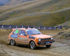 Richard Ford, of Bannockburn, drove his Toyota Starlet into first in the 0-1300cc 2WD class....