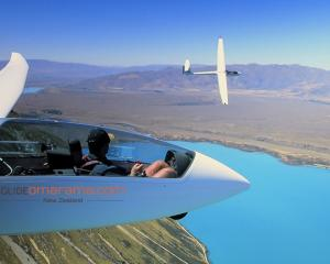 Stunning views soaring over Lake Ohau.