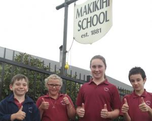 Pupils at Makikihi School. Photo: Timaru Courier