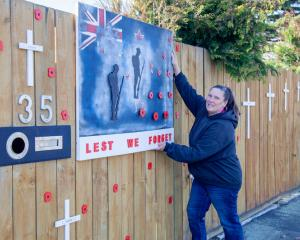 A tribute to the fallen on Palmers Rd, New Brighton.