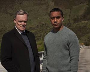 Joel Tobeck and Dominic Ona-Ariki in One Lane Bridge. Photo: NZ Herald