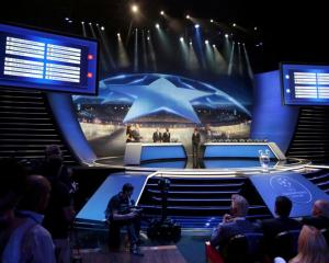 A view from the UEFA Champions League draw. Photo: Reuters.