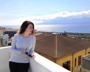 Former Arrowtown woman Abbee Pratten looks out across Calabria, southern Italy, from her rooftop....