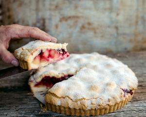 Blackberry and apple shortcake. Photos: Emma Willett