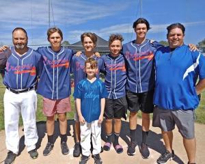 Selwyn Baseball president Andrew Fleck (left) with fellow club members Te Ahu Wall, Blake Hardy,...