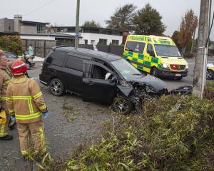 The crash on Ilam Rd, Bryndwr, Photo: Geoff Sloan