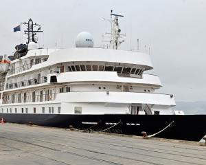 Also in Dunedin yesterday was cruise ship Caledonian Sky, berthed at the T/U wharf.