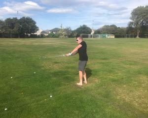 Mat Prior works on his chipping game at Upper Riccarton Domain.