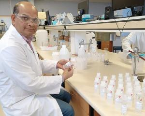 University of Otago pharmaceutical sciences senior lecturer Dr Shyamal Das and six of his...