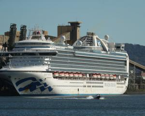 The Ruby Princess sits docked Port Kembla, Australia. Photo: Getty
