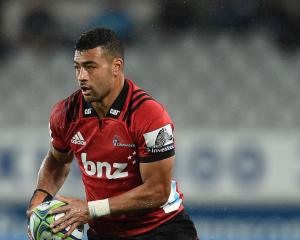 Richie Mo'unga was one of a group of Crusaders from three separate bubbles busted at a park today...