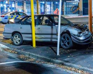 Police believe the accused crashed their car in Hanover St before fleeing the scene. Photo: NZ...