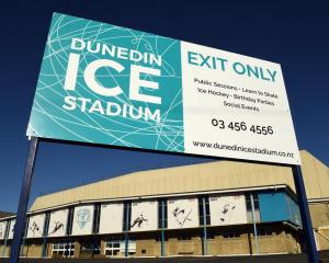 The Dunedin Ice Stadium's ice has been melted while its doors remain closed. PHOTO: STEPHEN JAQUIERY