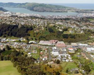Kaikorai Valley is the focus of this aerial photograph of Dunedin. Photo by Stephen Jaquiery.