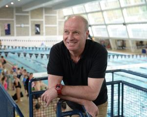 Swimming coach Lars Humer at Moana Pool in 2018. Photo: Linda Robertson