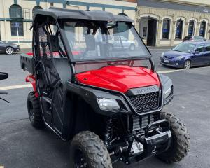 Mountain Biking Otago's new Honda Side by Side ATV was stolen in a brazen lockdown theft. Photo:...