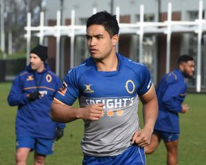 Josh Ioane trains with the Otago squad last season. Photo: Gregor Richardson