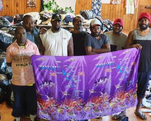 Vanuatuan seasonal workers stranded by Covid-19 (from left) Ritchie Ross, Tali Vaika, George Wola...