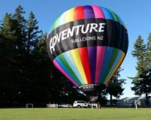Hot air balloon operator Graeme Church uses four possible launch sites near Methven, depending on...
