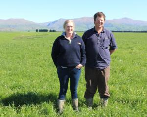 Outstanding in their field ... Anna and Ben Gillespie are the winners of this year's Otago...
