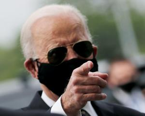 Democratic US  presidential candidate and former Vice President Joe Biden is seen at War Memorial...