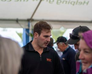 Engaging with farmers ... South Island territory manager for Bidr.co.nz Thomas Mallon connects...